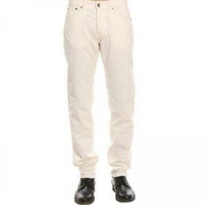 Eleventy White Five Pocket Corduroy Pants Trousers